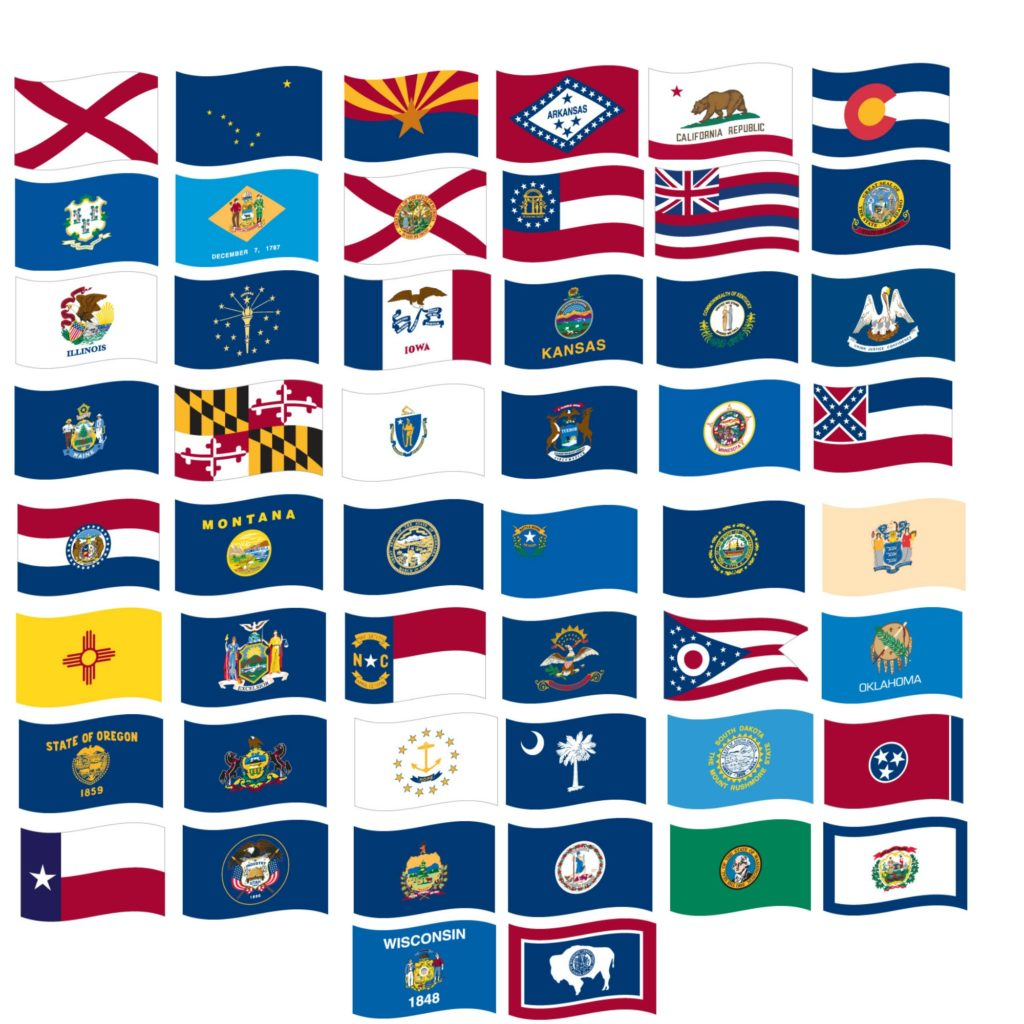 3' X 5' Nylon Set of all 50 State Flags