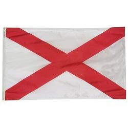 "12"" X 18"" Nylon Alabama State Flag"