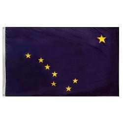 """12"""" X 18"""" Nylon Alaska State Flag"""