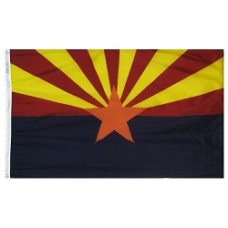 4' X 6' Polyester Arizona State Flag