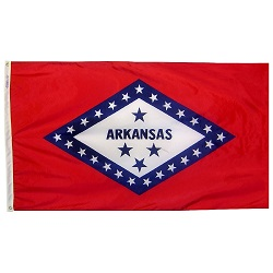 "12"" X 18"" Nylon Arkansas State Flag"