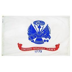 "12"" X 18"" Nylon Army Flag"