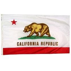 "12"" X 18"" Nylon California State Flag"