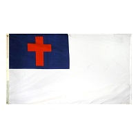 3' X 5' Nylon Outdoor Christian Flag