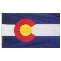 """12"""" X 18"""" Nylon Colorado State Flag"""