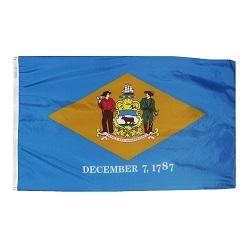 """12"""" X 18"""" Nylon Delaware State Flag"""
