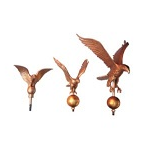Flagpole Eagle Ornaments