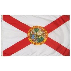 """12"""" X 18"""" Nylon Florida State Flag"""