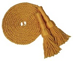 """6"""" Indoor Golden or White Flagpole Cord and Tassel"""