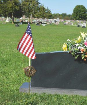 Veteran Aluminum Grave Marker
