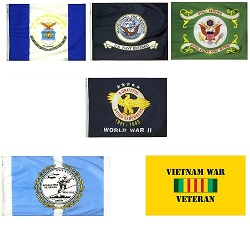 Retired and Veteran Flags