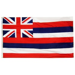 "12"" X 18"" Nylon Hawaii State Flag"