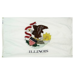 "12"" X 18"" Nylon Illinois State Flag"