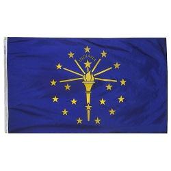 "12"" X 18"" Nylon Indiana State Flag"