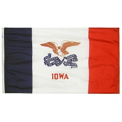 5' X 8' Polyester Iowa State Flag