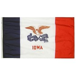 """12"""" X 18"""" Nylon Iowa State Flag"""