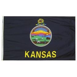 5' X 8' Nylon Kansas State Flag