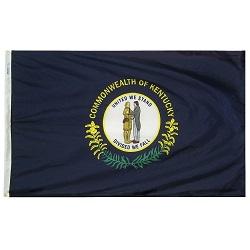"""12"""" X 18"""" Nylon Kentucky State Flag"""