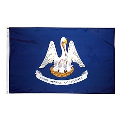 5' X 8' Polyester Louisiana State Flag