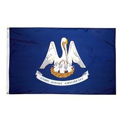 5' X 8' Nylon Lousiana State Flag