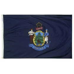 "12"" X 18"" Nylon Maine State Flag"