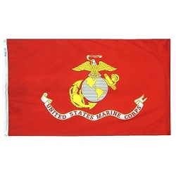 4'x6' Polyester Marine Corps Flag