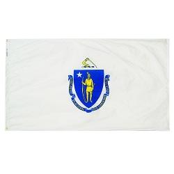 5' X 8' Polyester Massachusetts State Flag