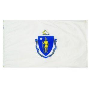 5' X 8' Nylon Massachusetts State Flag