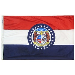 5' X 8' Polyester Missouri State Flag
