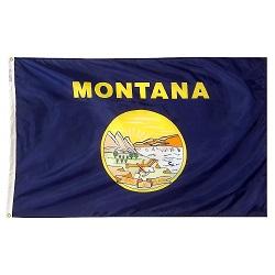 """12"""" X 18"""" Nylon Montana State Flag"""