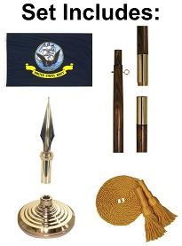 4' X 6' Navy Indoor Flag Set