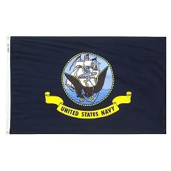 """12"""" X 18"""" Nylon Navy Flag"""