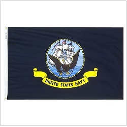 Outdoor Polyester Navy Flags