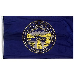 4' X 6' Nylon Nebraska State Flag