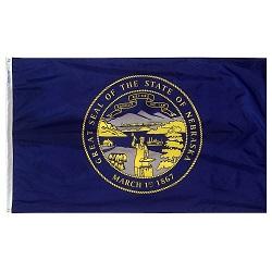 "12"" X 18"" Nylon Nebraska State Flag"