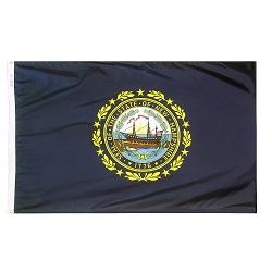 """12"""" X 18"""" Nylon New Hampshire State Flag"""