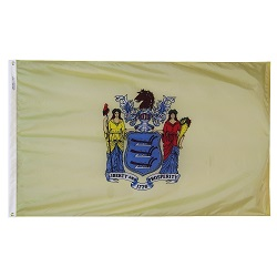 4' X 6' Polyester New Jersey State Flag