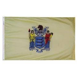 "12"" X 18"" Nylon New Jersey State Flag"