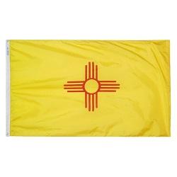 """12"""" X 18"""" Nylon New Mexico State Flag"""