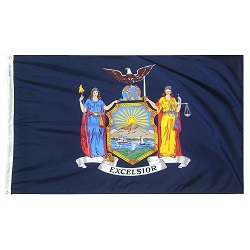 5' X 8' Polyester New York State Flag