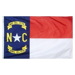 5' X 8' Nylon North Carolina State Flag