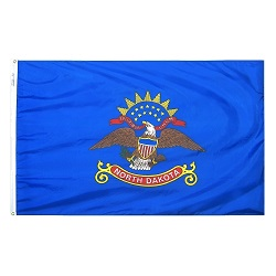 5' X 8' Nylon North Dakota State Flag