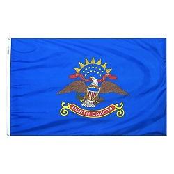 """12"""" X 18"""" Nylon North Dakota State Flag"""
