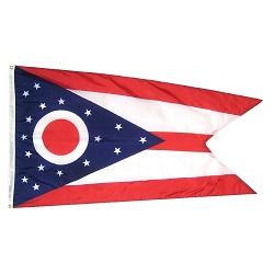 """12"""" X 18"""" Nylon Ohio State Flag"""