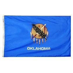 """12"""" X 18"""" Nylon Oklahoma State Flag"""
