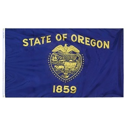 "12"" X 18"" Nylon Oregon State Flag"