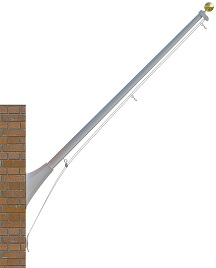8' Continental Outrigger Mount Flagpoles