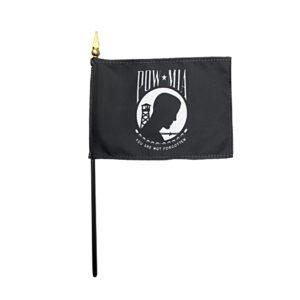 """4""""x6"""" POW MIA Stick Flags"""