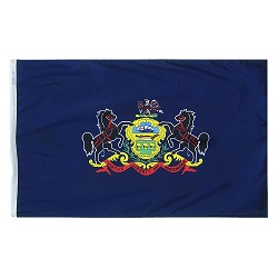 "12"" X 18"" Nylon Pennsylvania State Flag"