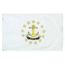 "12"" X 18"" Nylon Rhode Island State Flag"